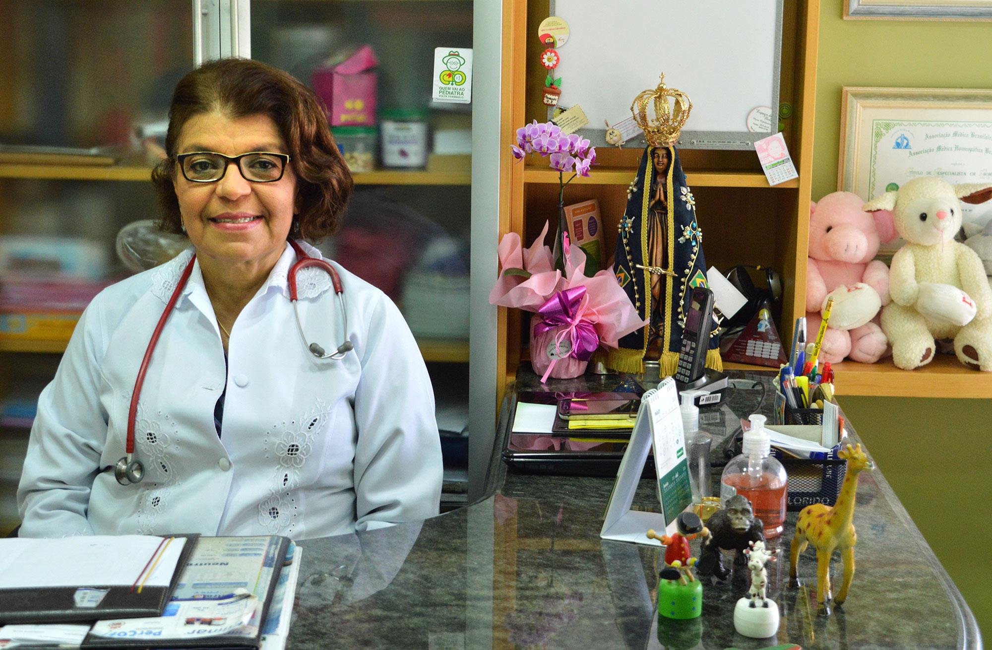 Dra. Kátia no seu atual consultório.